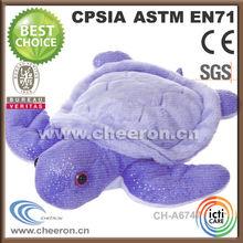 Sea animal shape plush purple turtle toys