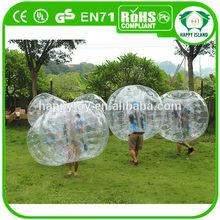 HI new design popular TPU/PVC human sized soccer bubble ball for sale