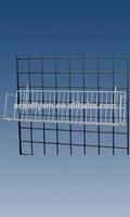 White Slatwall CD/DVD/Cassette Wire Shelf For Grid