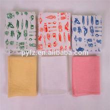 Exports Europe and USA factory supply white waffle tea towel fabric custom logo