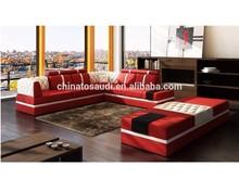 Hot selling modern leather sofa design for living room