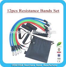 2014 Eco-friendly quality Resistance Band Set/ upper body resistance training set