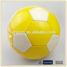 Promotion soccer ball/football yellow size 5# 4# 3# machine stitch PVC/PU material