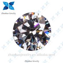 zhanhao jewelry hot sale 1mm white round cutting cz
