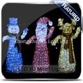comercial a prueba de agua de acrílico iluminada de navidad muñeco de nieve