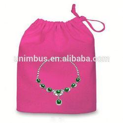 2015 new arrival travel velvet lady jewelry roll bag