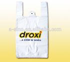 Loop Handling T-shirt carrier Plastic Bag, ldpe plastic bags