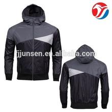 JS7875 mens cheap contrast color wind stop jackets