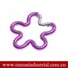 Guangzhou hot selling fashion aluminum flower shape carabiner