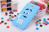 3D cute cartoon M&M Chocolate jelly Bean Silicone Case For Samsung galaxy note 3 n9000,300pcs/lot