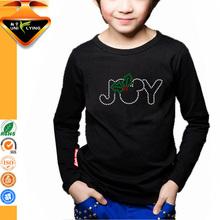 Rhinestone fashion o-neck t-shirt for 6 years old boy