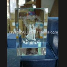 3d crystal cube crystal wedding gift