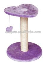2014 new sisal pole plush pet cat scratching post