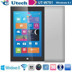 3G Windows tablet 8 inch Quad core HDMI,Bluetooth