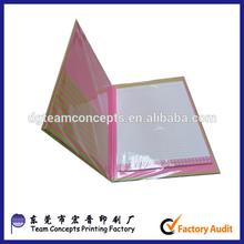 mini folding cardboard clipboard