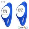 Safety 13.56MHz MIM256 personalized silicone custom round bracelet rfid for travel