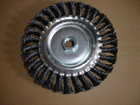 bevel knotted twisted cup steel wire brush