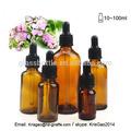 recarregáveis 30ml amber óleo essencial de embalagens de cosméticos