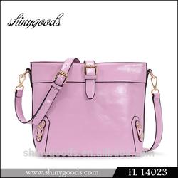 FL14023 2014 Newest Leather women handbag Design Trendy tote bag