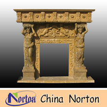 young woman heading pot and nude angel marble fireplace NTMF-F022