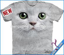 China supplier wholesale new design high quality man dress 3 d t shirt polyester 3 d t shirt