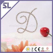 Rhinestone monogram crystal cake topper number monogram personalized wedding crystal rhinestone cake