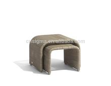 2014 Hot Sale outdoor garden rattan wicker antique fancy shape footstool