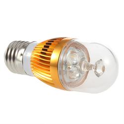 New E27 9W 3LED Warm White Light Bulb Crystal Light Source Gold led crystal light Frame