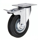 Factory price black rubber locking caster wheels