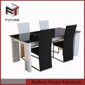moderna de vidro e laca preta móveis sala de jantar conjuntos