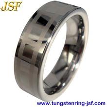 Never fade Laser Tungsten Ring fine jewelry china