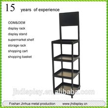 Hot sell 4 layers black metal wallet display rack/socks display rack for retails