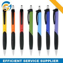 Colors Plastic Balck Rubber Grip Dome Pen