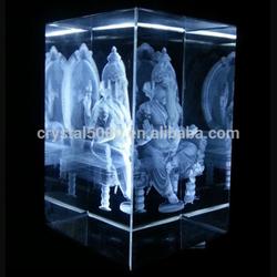 3d crystal cube 3d laser crystal glass cube