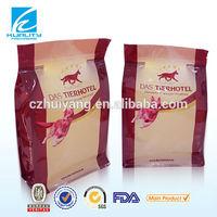 plastic flat bottom zipper dog food packaging bag