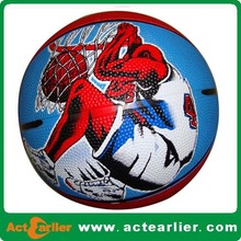 Picture Printed Rubber Basketball