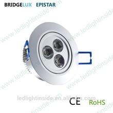 dimmable 220v led ceiling light 3w 127V 230V