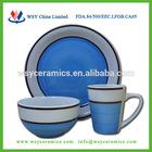 2014 new design 18pcs hand painted dinnerware set,crockery china dinner set