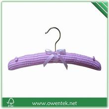 Striped household ribbon bow satin fabric hanger