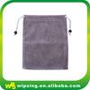 Custom large drawstring velvet shoe bag