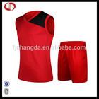 Cannda new style basketball jersey uniform men red sports uniform made in china