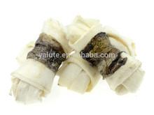 wholesale dog snack fishskin wraps rawhide bones