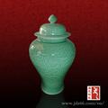 jingdezhen ervilha verde da porcelana jar gengibre com tampa