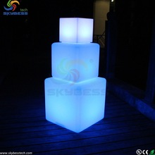 colour changing led cube table for bar,led party cube chair,led furniture