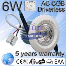 High Quality Samsung 6W Buy LED Down Light 5 Years Warranty Cut Size 60mm 70mm