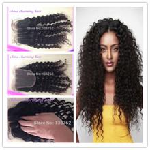 2014 hot sale free shipping brazilian curly silk base closure 5x5