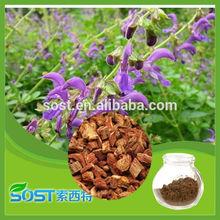 High quality Traditional Chinese Medicine Salvia Root Extract 5% to 90% Salvia Miltiorrhiza Extract danshensu powder