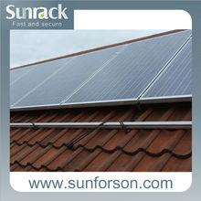 Sunrack aluminum solar panel mounting frames,tile roof solar mounting brackets