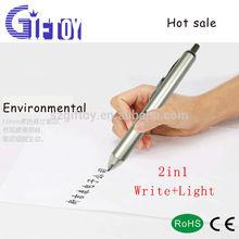 Aluminum material LED flashlight pen for promotional gift