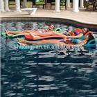 Swimming Foam Pool Float Water Mat Vinyl coated dipped pool lounge Flaoting Water Bed